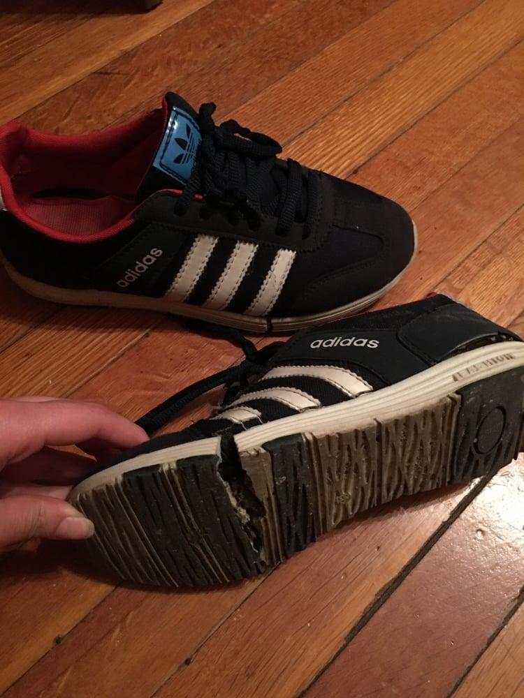 15. Ve sonunda ayakkabım yırtıldı.