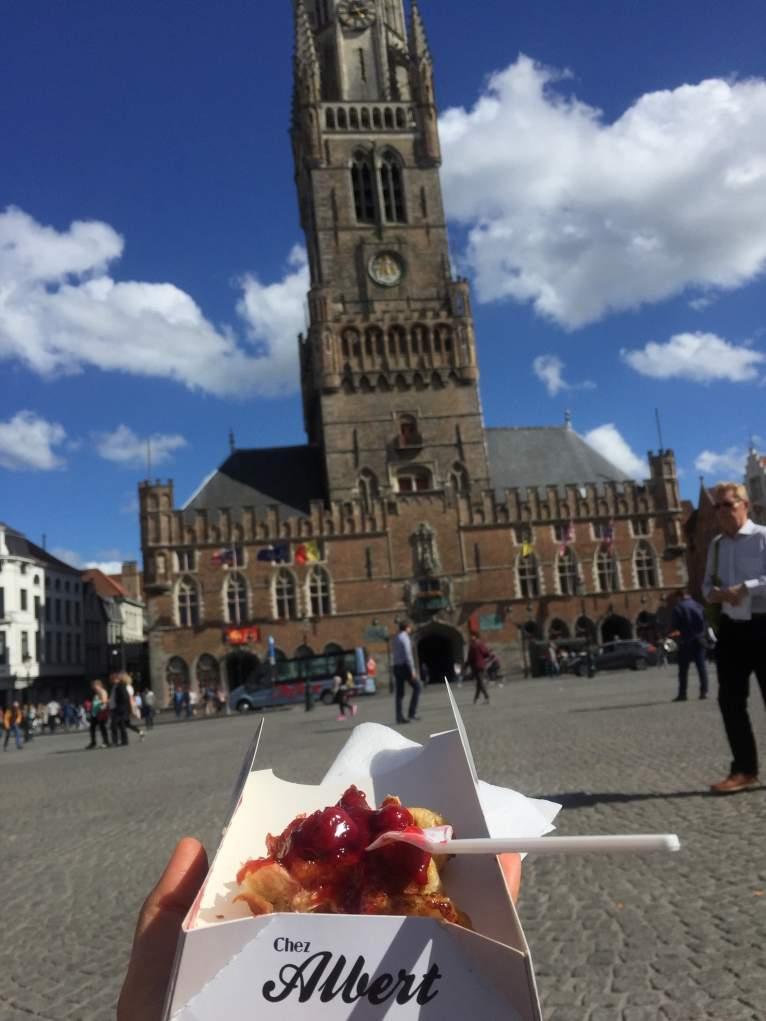 1. Belçika'da en güzel waffle Brugge'da yenir.