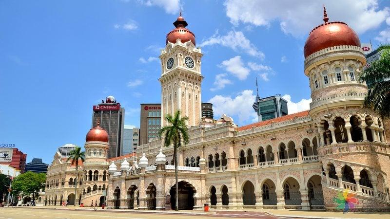 3. Sultan Abdul Samad Binası Saat Kulesi / Kuala Lumpur, Malezya