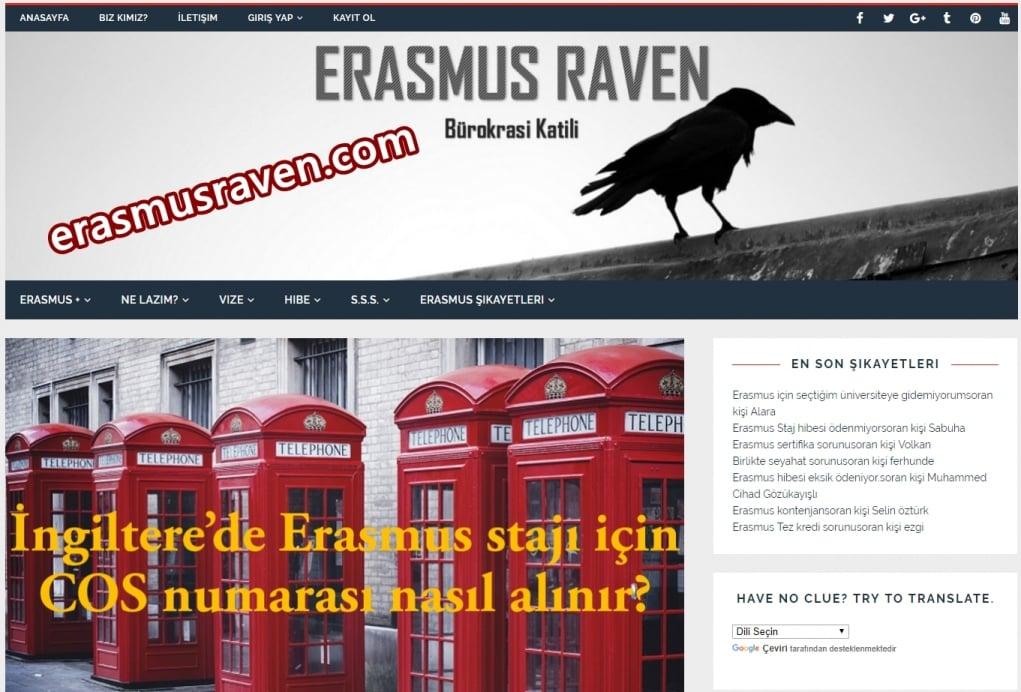 1. Erasmus Raven ile tüm sorularınıza cevap alın.