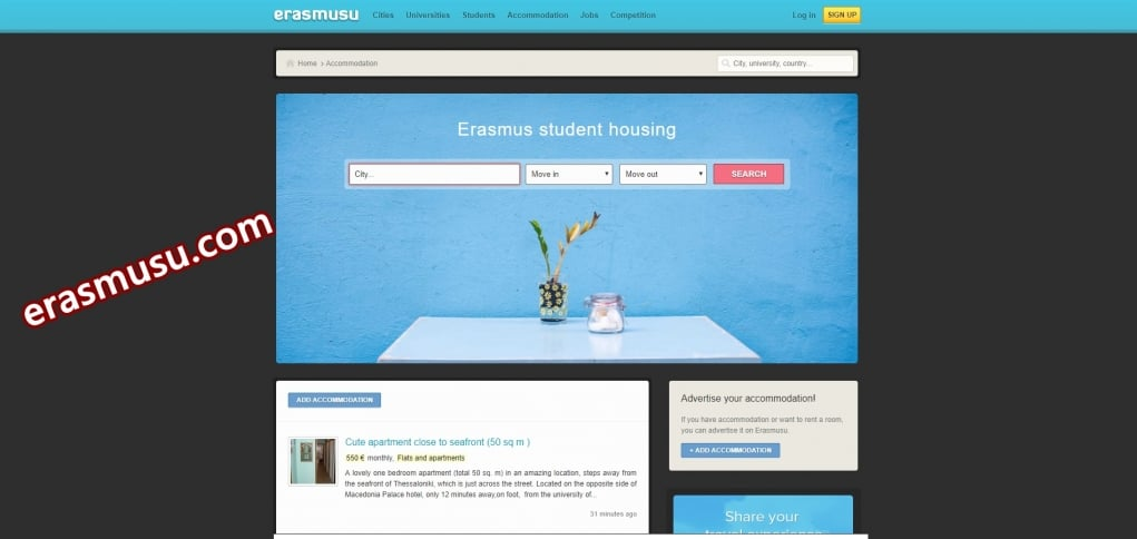 3. Erasmusu ile kalacak yeni yerler keşfedin.