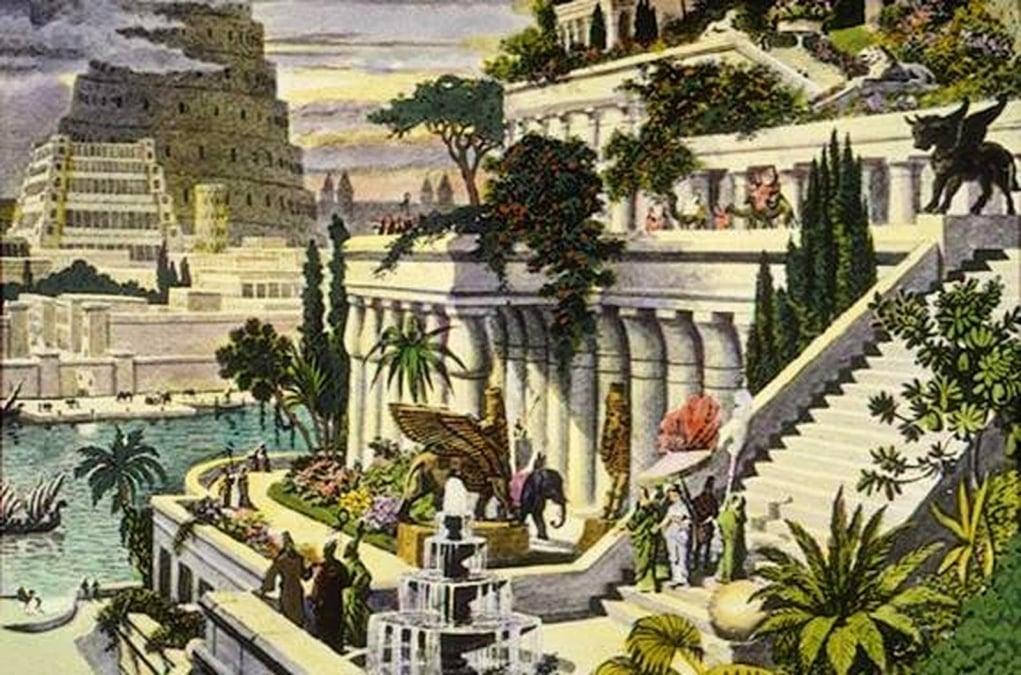 2. Babil'in Asma Bahçeleri (M.Ö. 605 – Irak, Mezopotamya)