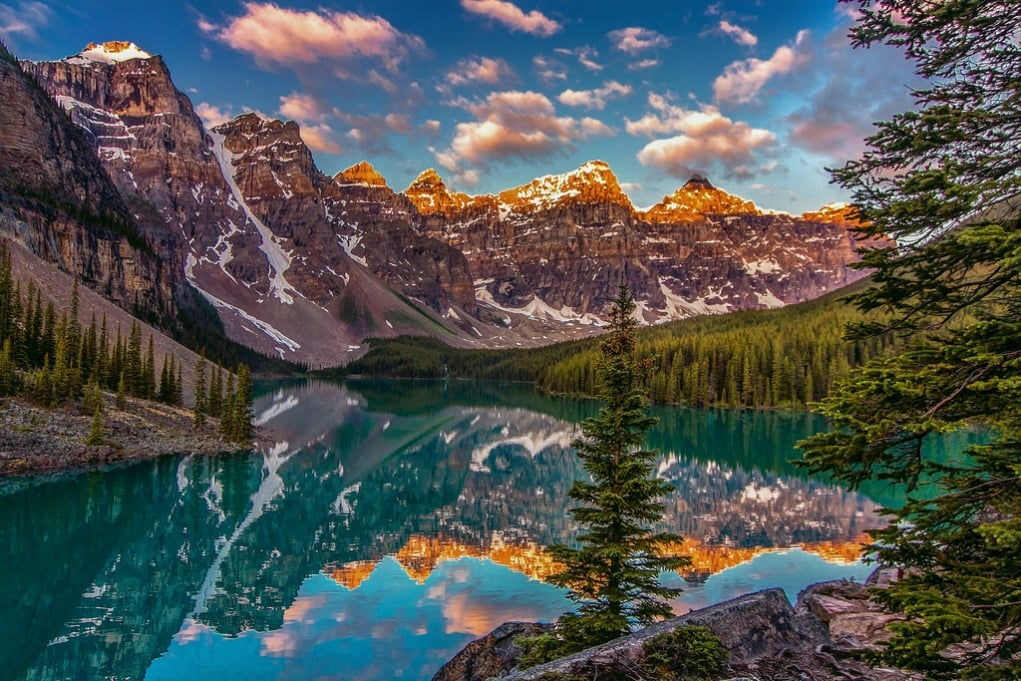 1. Banff National Park and the Rocky Mountains