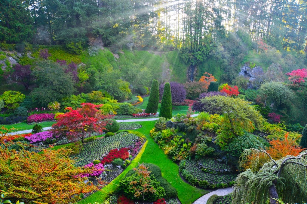 11. Butchart gardens