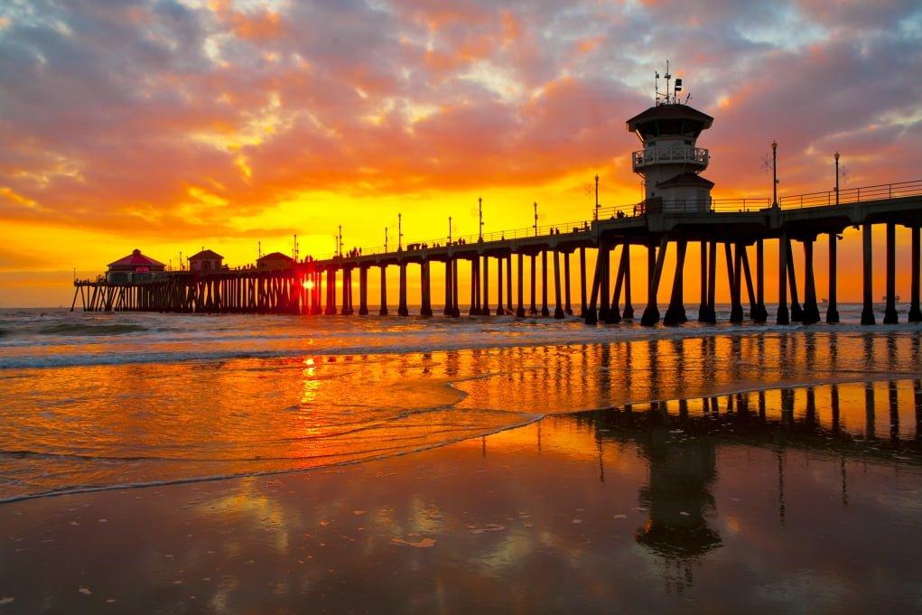 5. Kaliforniya iskelelerinde gün batımını izlemek huzur vericiydi.