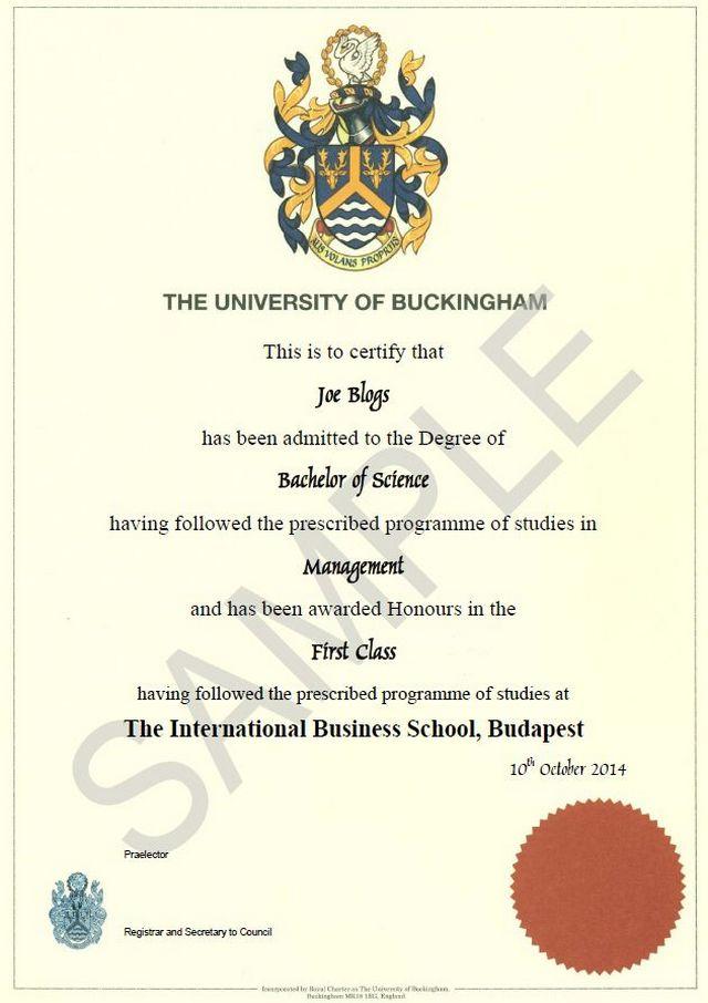 2. İngiliz Buckingham Üniversitesi'nden diplomanız olur.