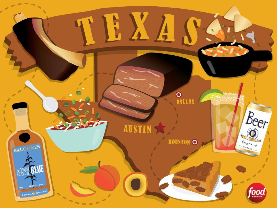 2. Büyük bir eyalet olma özelliği aynı zamanda yemekler için de geçerlidir.