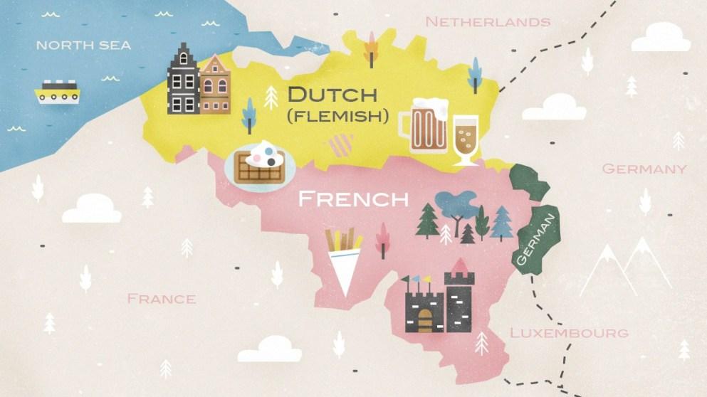 1. Belçika'nın 3 resmi dili var.